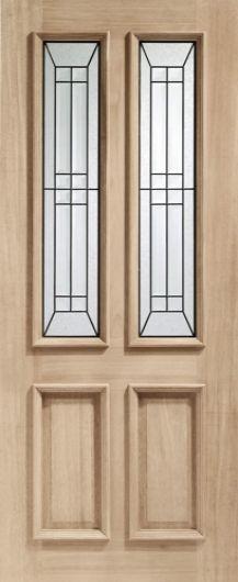 Malton Diamond Triple Glazed Oak External Door