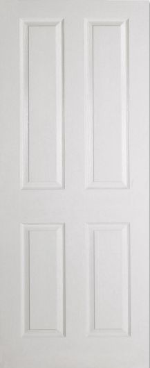 Canterbury Moulded Grained White Prefinished Painted Door Internal Doors