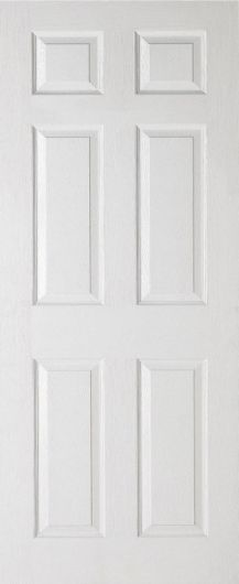 Scotia/ Colonist Moulded Grained White Primed Internal Door