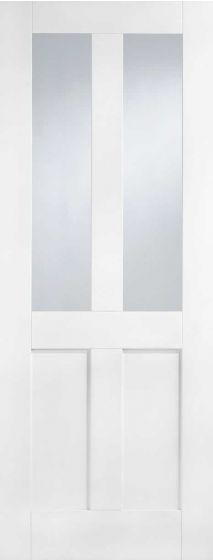 London White Primed Clear Glazed Internal Door