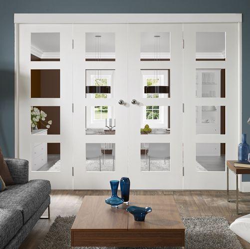 Freefold White Pre-Primed Internal Folding Doors In Situ 1