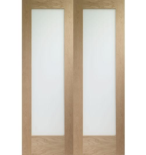 Pattern 10 Clear Glazed Oak Internal Pair