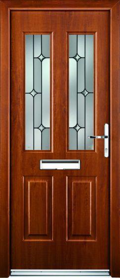 Jacobean Linear Glazed ULTIMATE Composite Rockdoor