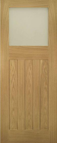 Cambridge Oak Obscure Glazed Internal Doors