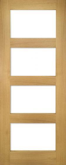 Coventry Oak Clear Glazed Pre-Finished Internal Door