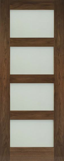 Coventry Walnut Frosted Glazed Pre-Finished Internal Doors