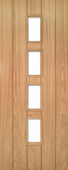 Galway Oak Clear Glazed Internal Door