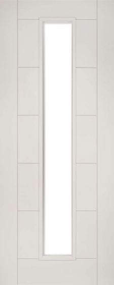 Seville White Primed Clear Glazed Internal Fire Door (FD30)