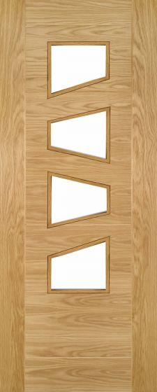 Seville Oak Pre-Finished Clear Glazed Internal Door