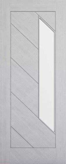 Torino Light Grey Clear Glazed Pre-Finished Internal Door