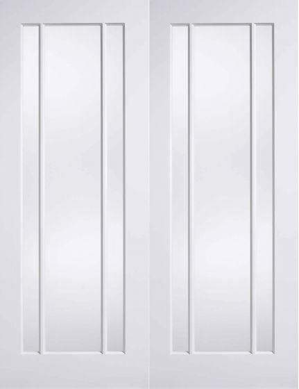 Lincoln White Primed Clear Glazed Internal Pair