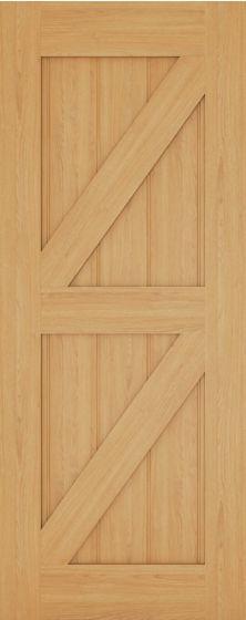 Galway Ledge and Brace Oak Internal Door