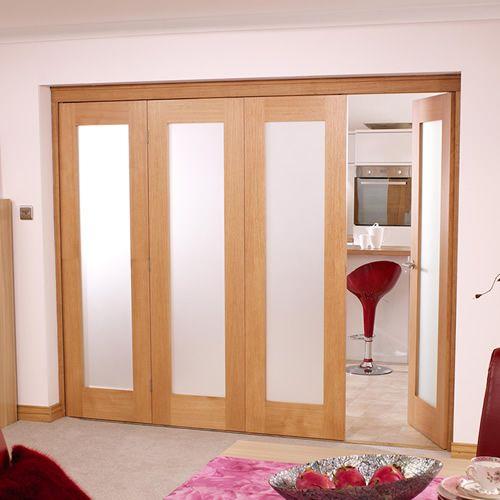"""NuVu Roomfold Oak Internal Folding Doors (24"""" Per Door)"""
