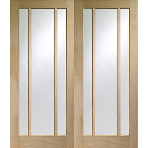 Worcester Oak Pair Clear Glazed Internal Pair